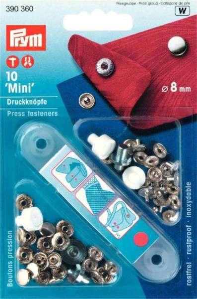 Druckknöpfe mini 10 Stk mit Werkzeug