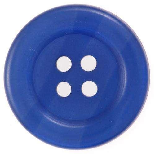 Blaue 4 Loch Knöpfe mit Glanz KBL-39
