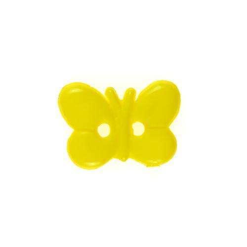 Kinderknöpfe kaufen Schmetterling KK-37gelb