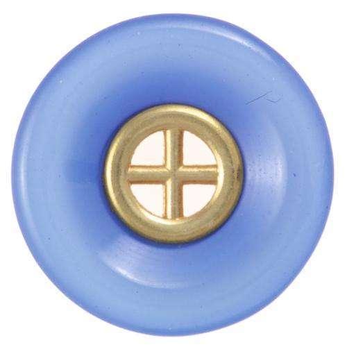 Knöpfe mit goldenem Metalleinsatz blau KBL-3