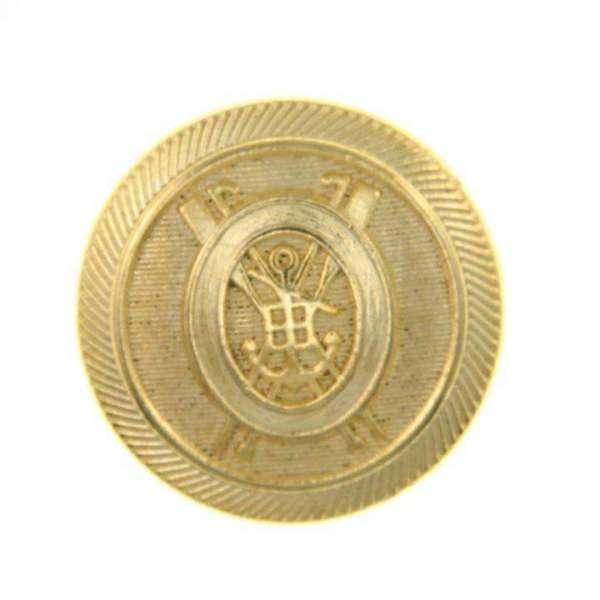 Metall Knopf Knöpfe  10 stück Bronze   Wappen    22,5 mm #95#