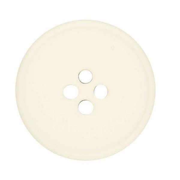 Knöpfe aus Kunststoff Knopf 4-Loch Creme KN-30-B