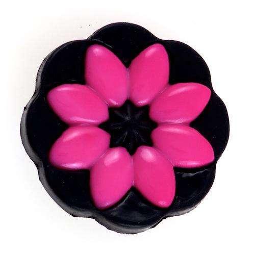 Knöpfe mit Blumenmotiv BL-100 schwros