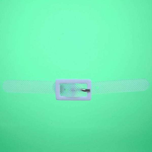 Zierteil mit Schnalle transparent