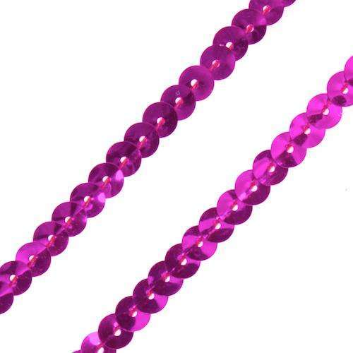 Farbiges Paillettenband Paill-6 pink