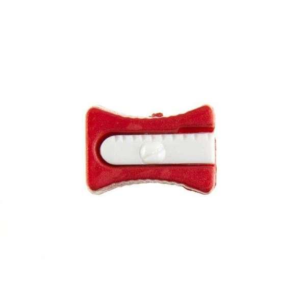 Kinderknöpfe kaufen Bleistiftspitzer-KK-152-rot-1
