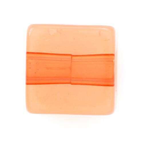 Quadratische Perle orange Variante
