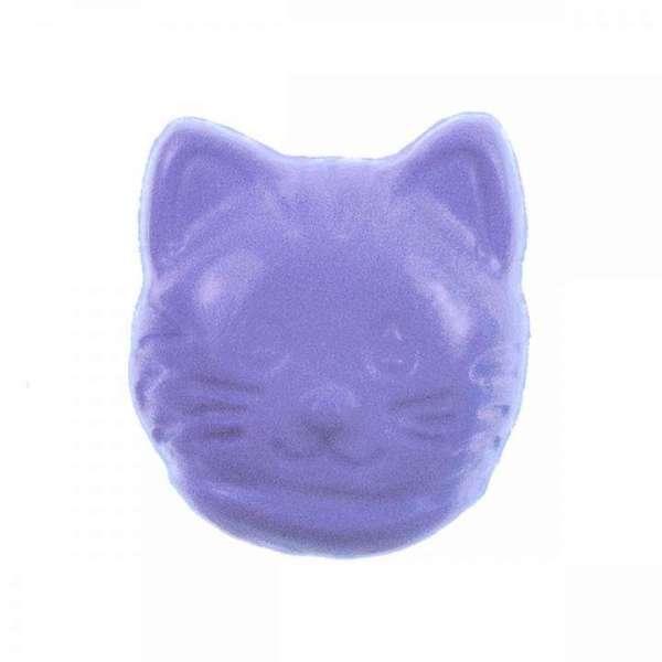 Kinderknöpfe kaufen Katzenkopf lila   KK-16-11