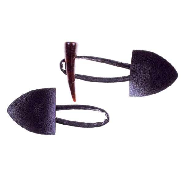 Dufflecoat Verschluss Kunstleder K-103 C braun