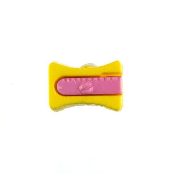 Kinderknöpfe kaufen Bleistiftspitzer-KK-152-gelb-4